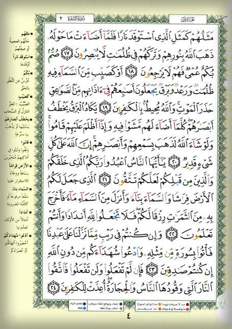 وقفات مع القرآن الكريم للتدبر والعمل….سورة البقرة صفحه4