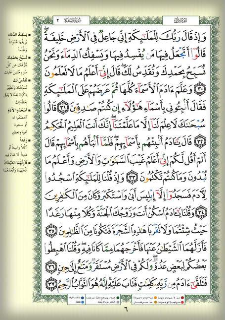وقفات مع القرآن الكريم للتدبر والعمل….سورة البقرة صفحه6