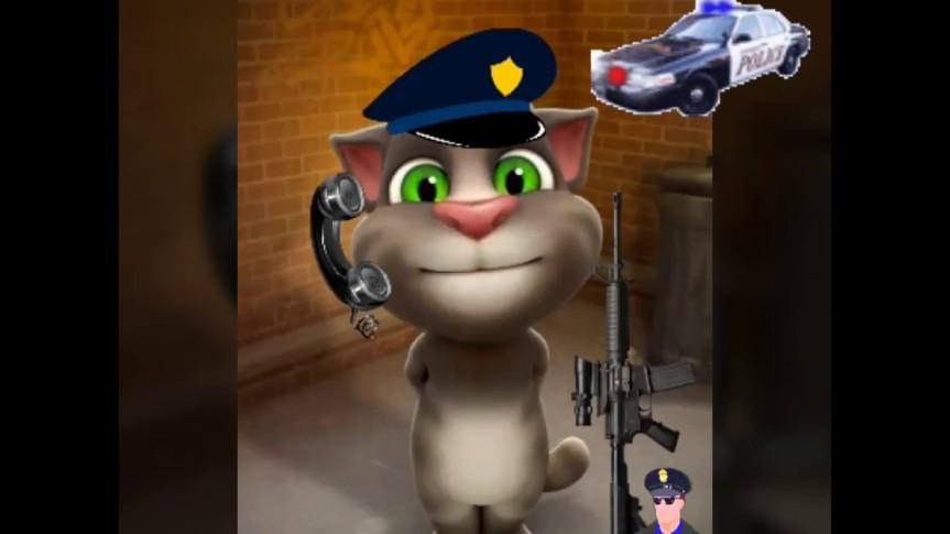 القط توم شرطيالاطفال