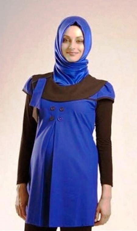 15 Baju  Kerja Ibu Hamil  Muslim  Terbaru 2019 Cantik dan Modis