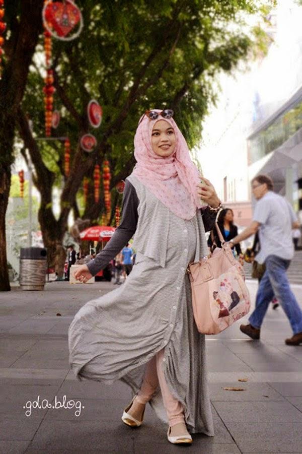 Model Baju  Hamil  Muslim  Trendy Dan Modis Tutorial Hijab