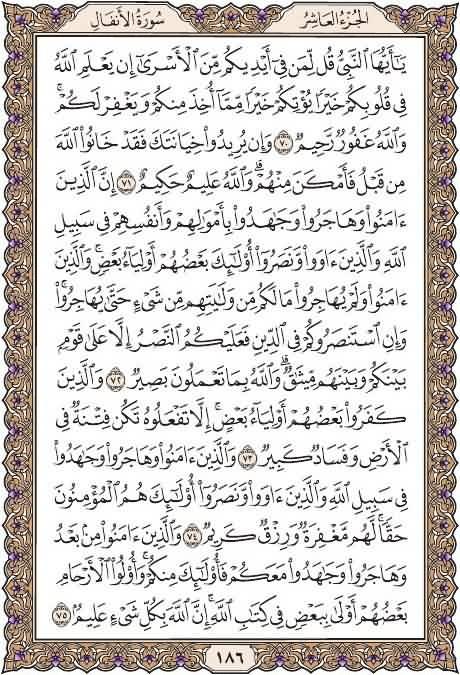 القرآن تدبر وعمل صفحة رقم 186 سورةالأنفال