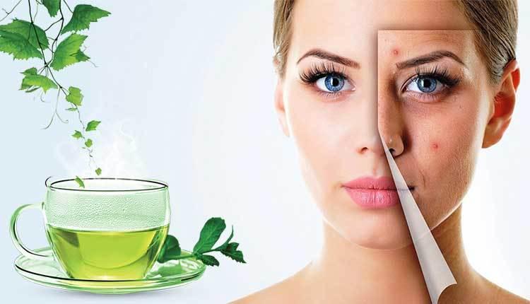ماسك الشاي الأخضر لبشرة شبابية خالية منالتجاعيد